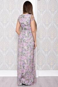 Платье длинное летнее с принтом С8214