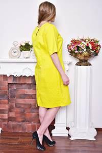 Платье короткое деловое желтое Р8367