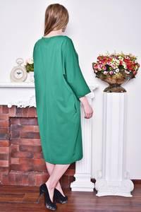 Платье длинное зимнее зеленое Р8374