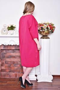 Платье длинное зимнее красное Р8375