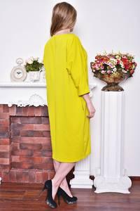 Платье длинное зимнее желтое Р8377