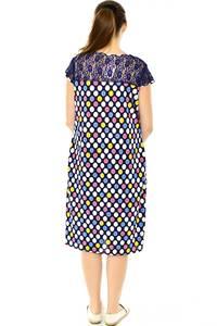 Платье длинное с коротким рукавом трикотажное Н7786