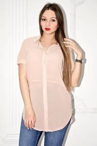 Рубашка прозрачная с коротким рукавом С0130