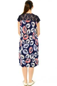 Платье длинное с коротким рукавом трикотажное Н7787