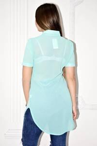 Рубашка прозрачная с коротким рукавом С0133