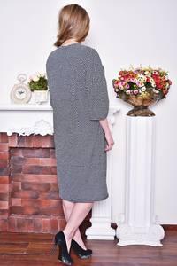 Платье длинное зимнее офисное Р8390
