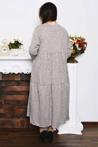 Платье длинное зимнее однотонное Р4206