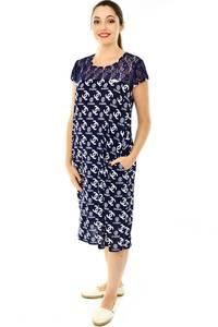 Платье длинное с коротким рукавом трикотажное Н7792