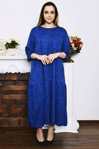 Платье длинное синее зимнее Р4213
