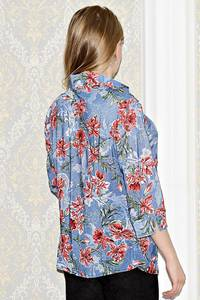 Рубашка джинсовая с принтом С1001