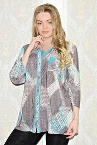 Рубашка с принтом с коротким рукавом С1038