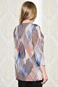 Рубашка с принтом с коротким рукавом С1039
