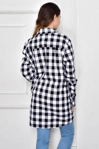 Рубашка в клетку с длинным рукавом Ф9629