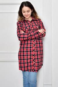 Рубашка в клетку с длинным рукавом Ф9630