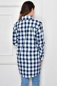 Рубашка в клетку с длинным рукавом Ф9631
