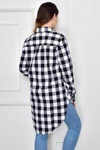 Рубашка в клетку с длинным рукавом Ф9632