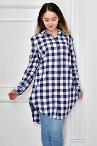 Рубашка в клетку с длинным рукавом Ф9633