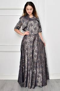 Платье Двойка длинное нарядное Ф9638