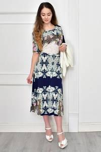 Платье Двойка короткое нарядное с принтом Ф9645