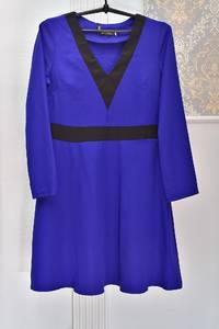 Платье короткое синее Я1040