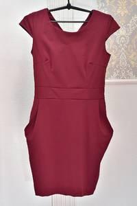Платье короткое однотонное Я1051