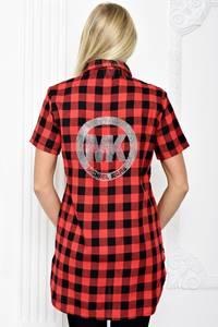 Рубашка красная в клетку С1258