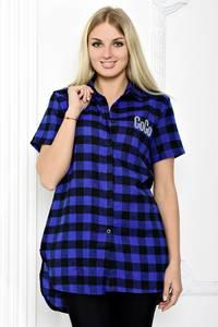 Рубашка в клетку с коротким рукавом С1259