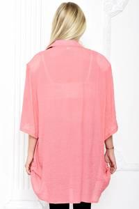 Рубашка удлиненная однотонная С1260