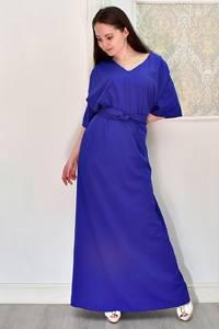 Платье длинное синее Я6693