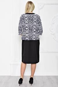 Платье короткое деловое черное С1283