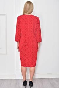 Платье короткое нарядное красное Ф4847