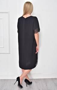 Платье короткое нарядное черное Ф4851