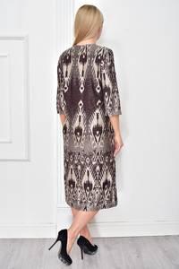 Платье короткое нарядное с принтом Ф4852