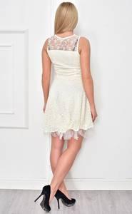 Платье короткое коктейльное однотонное Ф4854
