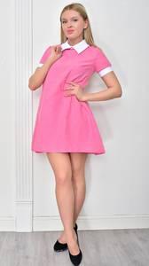 Платье короткое нарядное однотонное Ф4857