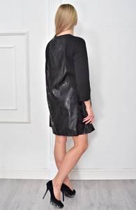 Платье короткое черное Ф4858