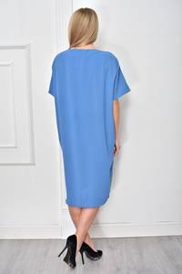 Платье короткое синее Ф4859