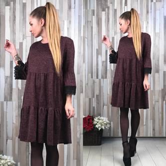 Платье короткое деловое однотонное Р2043