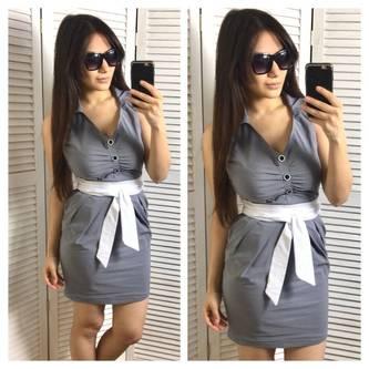 Платье короткое летнее нарядное Р2001