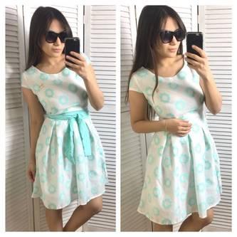 Платье короткое летнее нарядное Р1986