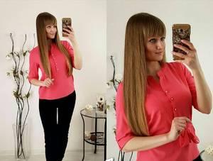 Блуза розовая для офиса Р2484