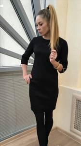 Платье короткое классическое черное П0809