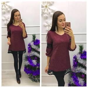 Туника трикотажная теплая модная П9369