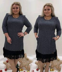 Платье короткое офисное однотонное П9447