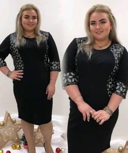 Платье короткое с принтом черное П9454