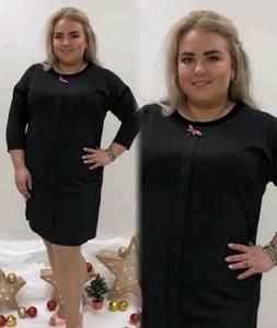 Платье короткое офисное черное П9458