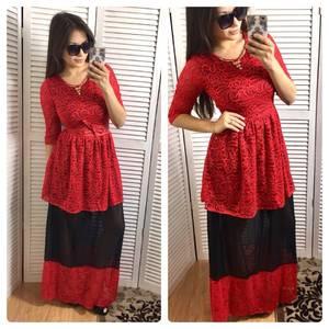 Платье длинное красное вечернее Р0614