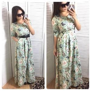 Платье длинное летнее нарядное Р0616