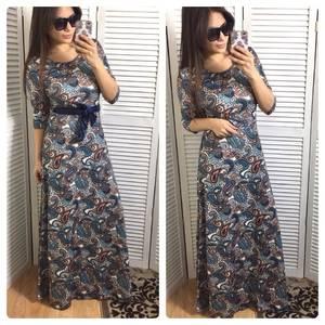Платье длинное летнее нарядное Р0619