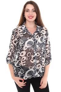 Блузка летняя прозрачная Н8416